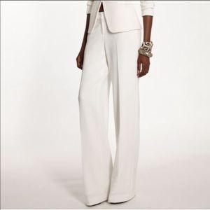 ST. JOHN Pure White Wide Leg Dressy Pants SZ 12
